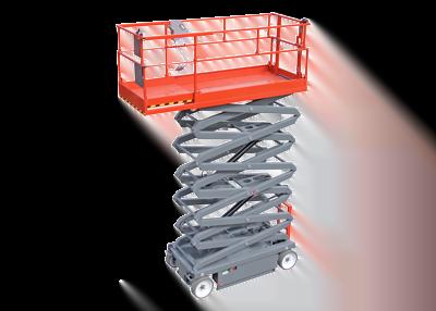 Funcionalidades das plataformas elevatórias tesouras